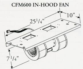 CFM300 300 CFM In-Hood Fan......