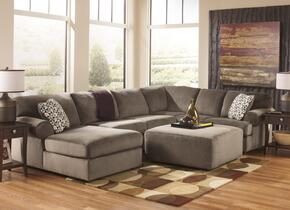 Jessa Place 39802-08-16-34-67 2-Piece Living Room Set with Sectional Sofa and Oversized Accent Ottoman in Dune