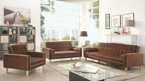 G800 Collection G842SET 3 PC Living Room Set with Sofa Bed + Loveseat Bed + Chair Bed in Chocolate Suede