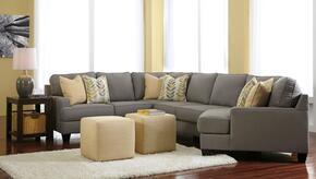 Peyton Collection MI-58594RCDSS2CO2ETR2L-ALLO 8-Piece Living Room Set with 4PC Right Cuddler Sectional, 2 Cube Ottomans, 2 End Tables, Rug and 2 Lamps in Alloy