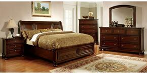 Northville Collection CM7682CKBDMCN 5-Piece Bedroom Set with California King Bed, Dresser, Mirror, Chest and Nightstand in Dark Cherry Finish