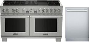 2-Piece Stainless Steel Kitchen Package With PRD606RCG 60
