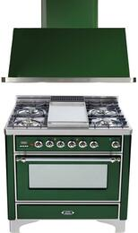 2-Piece Emerald Green Kitchen Package with UM90FDMPVSX 36