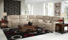 Carmine Collection 4151-8-9-1223-26/3023-26 3-Piece Sectional with Reclining Sofa, Wedge and Reclining Loveseat in Pebble