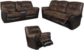 Follett 6520288SLR 3 PC Living Room Set with Reclining Sofa + Reclining Loveseat + Recliner in Chocolate Color