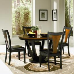 102091SET5 Boyer 5 Pc Dining Room Set in Black and Cherry Finish