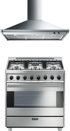 2-Piece Stainless Steel Kitchen Package with C36GGXU 36