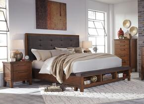Ralene King Bedroom Set with Panel Bed, and Nightstand in Medium Brown