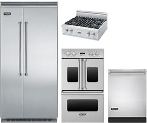 "5-Piece Stainless Steel Kitchen Package with VCBB5363ERSS 36"" Bottom Freezer Refrigerator, VGRT5304BSSLP 30"" Gas Cooktop, VDOF730SS 30"" Double Wall Oven, VMOS201SS 24"" Microwave w. 30"" Trim Kit, and FDW302WS 24 Dishwasher"