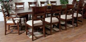 Vineyard Collection 1316RMDT8SC2AC 11-Piece Dining Room Set with Dining Table, 8 Side Chairs and 2 Arm Chairs  in Rustic Mahogany Finish