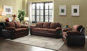 G286SET 3 PC Living Room Set with Sofa + Loveseat + Armchair in Chocolate Color