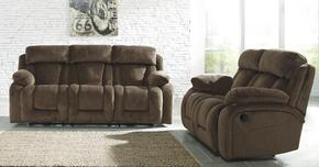 86503882PC Stricklin 2 PC Living Room Set with Reclining Sofa + Reclining Loveseat in Chocolate Color