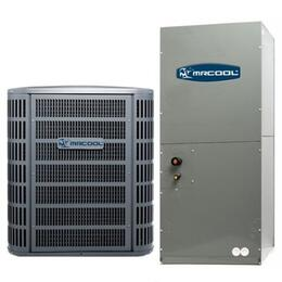 MACH18024 A/C Condenser and Air Handler 18 SEER R410A Variable Speed Central Ducted Series with 24000-20000 BTU Nominal Cooling, High Efficiency Performance and  Stepless Regulation.