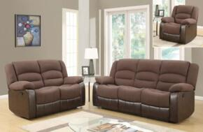 U98243D128CHOCOLATEPURSRLSR 3 Piece Set including  Reclining Sofa, Loveseat  in Chocolate PU