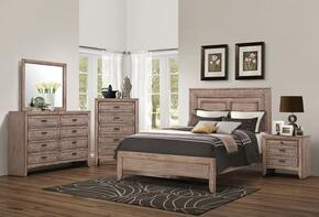 Ireton 26030Q5PC Bedroom Set with Queen Size Bed + Dresser + Mirror + Chest + Nightstand in Caramel Color