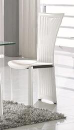 RAMONA-SC Ramona Fan Back Side Chair with White PVC Upholstery a Set of 4