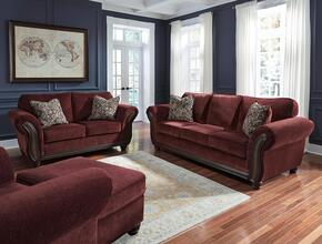 Tatiana Collection MI-8330SLCO-BURG 4-Piece Living Room Set with Sofa, Loveseat, Armchair and Ottoman in Burgundy