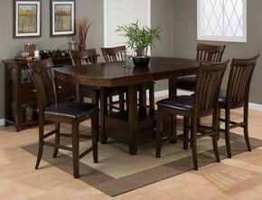836-78TBKTSET7C Mirandela High/Low Dining Table Withstorage Base with 6 Counter Height Stools
