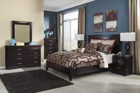 Zanbury King Bedroom Set with Panel Bed, Dresser, Mirror, Nightstand and Chest in Merlot