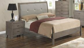 G1205ATBN 2 Piece Set including Twin Bed and Nightstand in Grey