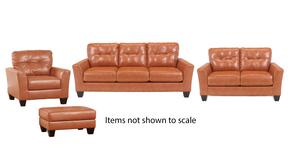 Paulie Collection 27002SLCO 4-Piece Living Room Set with Sofa, Loveseat, Living Room Chair and Ottoman in Orange