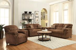 Patricia Collection 50130SLCT 6 PC Living ROom Set with Sofa + Loveseat + Chair + Coffee Table + 2 End Tables in Dark Brown Color