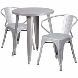 Flash Furniture CH51080TH218ARMSILGG