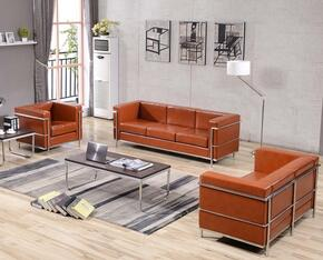 Hercules Regal Collection ZBREGAL8103SLCCOGGG1 3-Piece Living Room Sets with Stationary Sofa, Loveseat and Living Room Chair in Cognac