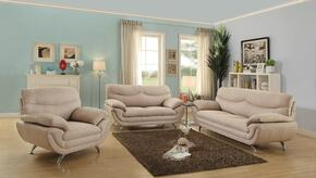 G437SET 3 PC Living Room Set with Sofa + Loveseat + Armchair in Tan Color