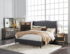 Global Furniture USA MIRROR8856CHOCFBUPHOLSTEREDSET