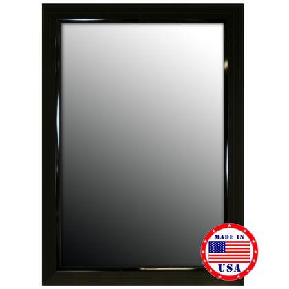 Hitchcock Butterfield 80560X 2nd Look Glossy Black Stepped Petite Framed Wall Mirror