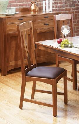 AAmerica CATAM267K Cattail Bungalow Series Contemporary Leather Solid Hickory Frame Dining Room Chair