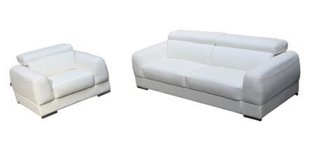 Diamond Sofa CHICAGOSCW Contemporary Bonded Leather Living Room Set
