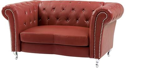 Glory Furniture G759L Faux Leather Stationary with Wood Frame Loveseat
