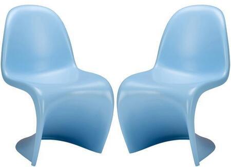 EdgeMod EM117BLUX2 S Series Armless Plastic Frame Accent Chair