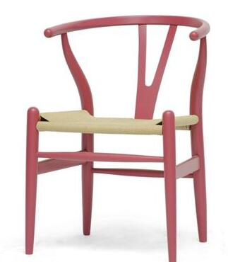 Wholesale Interiors DC541PINK Wishbone Series  Accent Chair