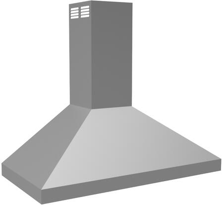 "Vent-A-Hood PDAH14-KXX SS XX"" ARS Series Chimney Style Wall Mounted Duct-Free Ventilation Range Hood With 250 CFM Power Lung Blower, European Style and Halogen Light System, in Stainless Steel"
