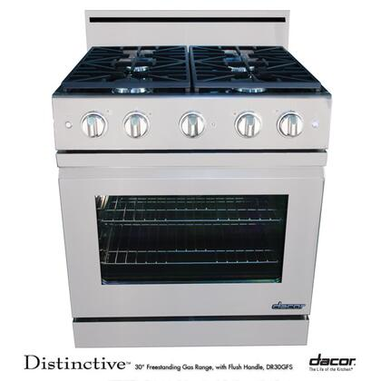 "Dacor DR30GFSNGH 30"" Distinctive Series Gas Freestanding Range with Sealed Burner Cooktop, 4.8 cu. ft. Primary Oven Capacity, in Stainless Steel"