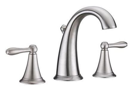 Virtu USA Alexis PS-265x Wide Spread Faucet with Pop-up Drain, 1.5 GPM Flow Rate, Washerless Valve and Lever Handles in X