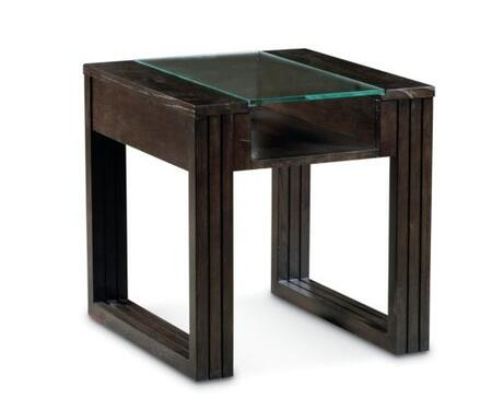 Lane Furniture 1204707 Carter Series Contemporary Rectangular End Table