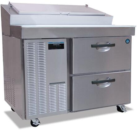 "Hoshizaki HPRXXA-D XX"" Professional Series Preparation Table Refrigerator with XX cu. ft. Capacity, EverCheck Controller, Stainless Steel Constructiom, and Night Switch: Stainless Steel"