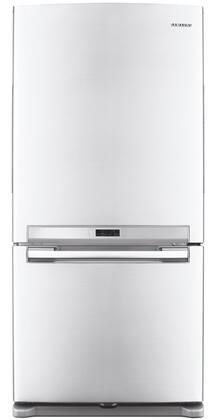 Samsung Appliance RB215ACWP  Bottom Freezer Refrigerator with 20 cu. ft. Total Capacity 6.4 cu. ft. Freezer Capacity 3 Glass Shelves