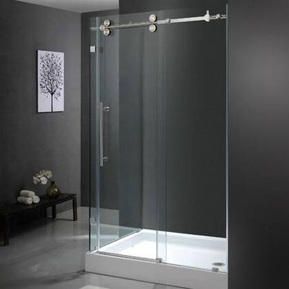 "Vigo VG6051XXCL48WR 36"" x 48"" Frameless 3/8"" Shower Enclosure with Right Base:"