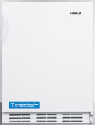 "AccuCold FF67 24"" FF67ADA Series Energy Star, ADA Compliant, Medical, Commercial Freestanding Compact Refrigerator with 5.5 cu. ft. Capacity, Crisper, Interior Light and Automatic Defrost:"