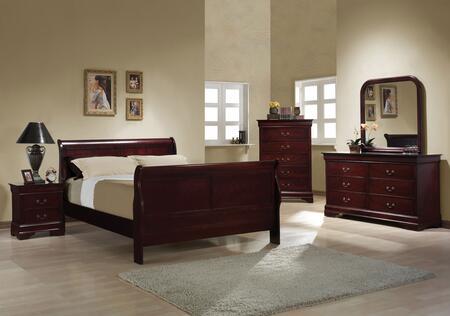 Coaster 203971QSET Louis Philippe Queen Bedroom Sets