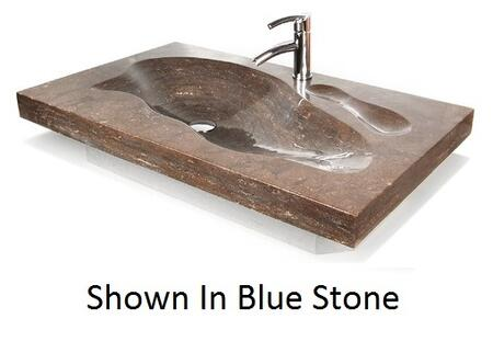 "D'Vontz GTH12456 Grand Tahoe 49"" Vanity Top With Integrated Sink, Natural Stone Construction & In"
