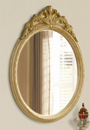 Yuan Tai PE4446M Pierre Series Oval Portrait Wall Mirror