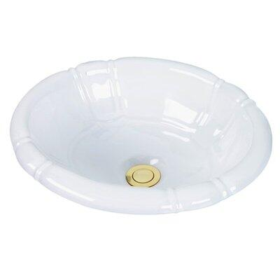 Cole and Co. 1115240212 Carlisle Undermount Porcelain Traditional Style Single Bowl Sink in
