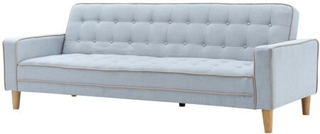 """Glory Furniture G800 Collection 85"""" Sofa Bed with Button Tufted Cushions, Track Arms, Removable Back and Arms, Center Support Leg, Tapered Legs and Upholstered in"""