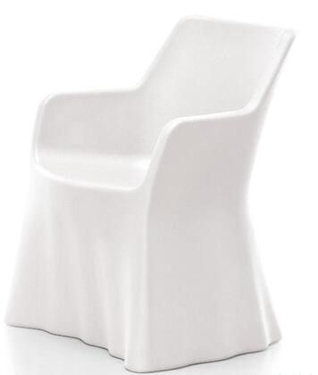Domitalia PHANTOMP000PEBI Phantom Series  Plastic Frame  Patio Chair